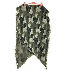 Very Soft Bebe Shawl Scarf Wrap Camouflage Green